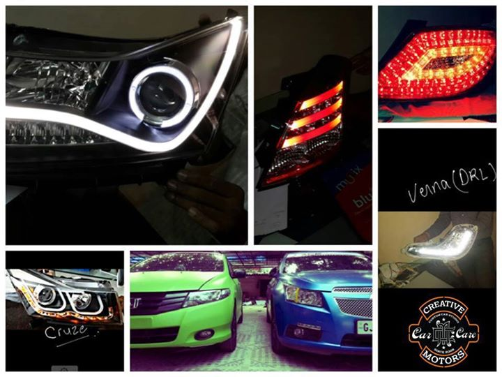 Creative Motors,  headlights,, taillights,, parkinglights, platelights., Carlights, creativemotors, ahmedabad, caraccessories, cardetailing, carspa, microdetailing, GlassCoatedTreatment, glasscoated, carfoamwash, foamwash