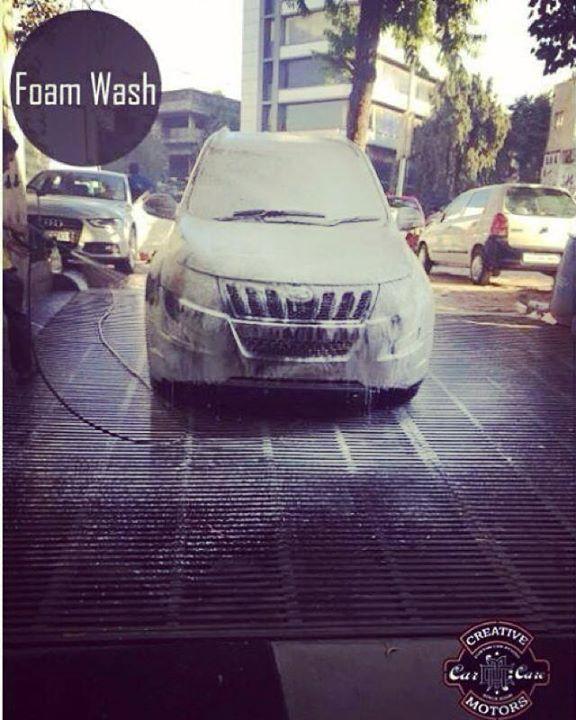 Creative Motors,  foam, coating, car, foam.Come, creativemotors, ahmedabad, caraccessories, cardetailing, carspa, microdetailing, GlassCoatedTreatment, glasscoated, carfoamwash, foamwash