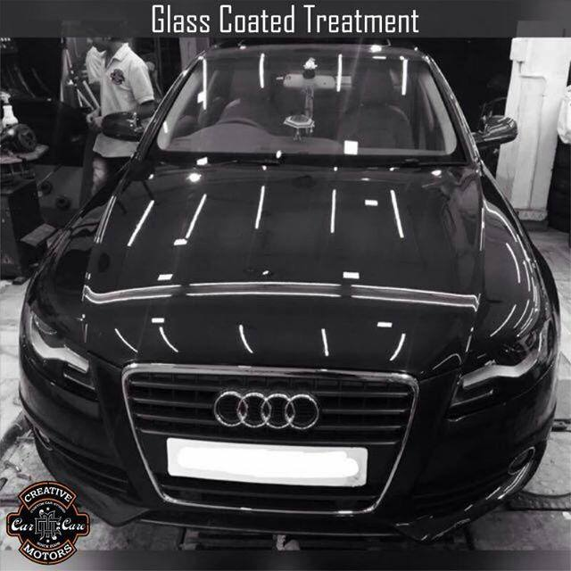 Creative Motors,  creativemotors, ahmedabad, caraccessories, cardetailing, carspa, microdetailing, GlassCoatedTreatment, glasscoated, carfoamwash, foamwash