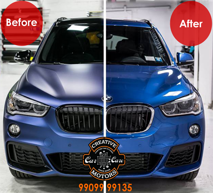 Protect your car paint and makes it looks even better with our unique detailing technique and highest grade of glass coated from 'Creative Motors'  Give us a call or come by +91-99099 99135 or 079 26421200...  Add :- 1&2, Ground Floor. Urvashi Complex, Mithakhali Cross roads, Navrangpura, Ahmedabad, India 380009