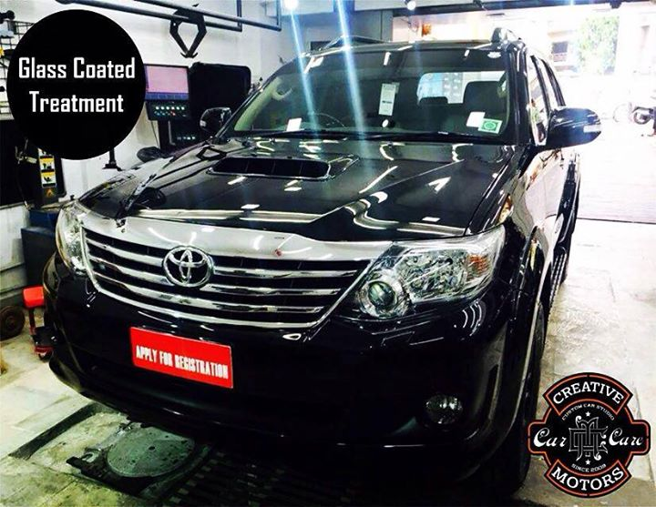 Creative Motors,  Glass, Coated, Treatment...One, money, creativemotors, ahmedabad, caraccessories, cardetailing, carspa, microdetailing, GlassCoatedTreatment, glasscoated, carfoamwash, foamwash