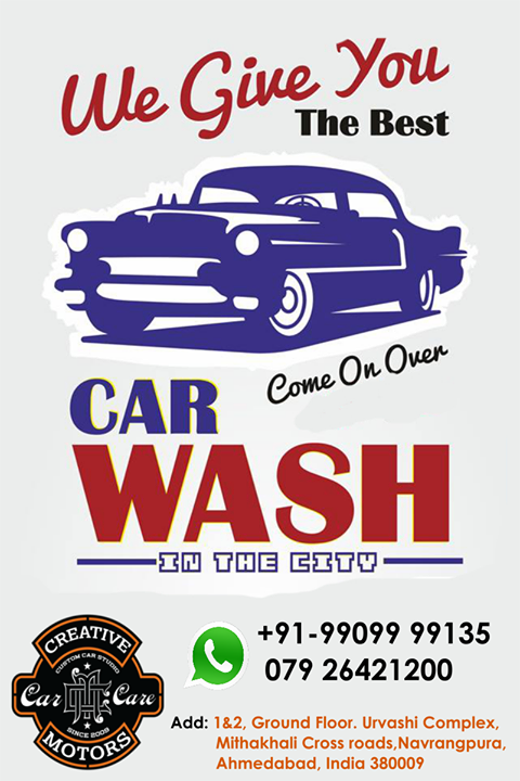 #Rain is no substitute for a #car #wash. Ask about our new wash card.Get your car looking fresh for the #weekend...Ask about our #detailing, we can make your car look brand new!  Tel/Whatsapp : +91-99099 99135 or 079 26421200  Add :- 1&2, Ground Floor. Urvashi Complex, Mithakhali Cross roads, Navrangpura, Ahmedabad, India 380009