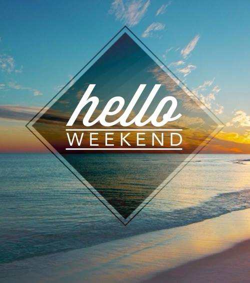 The #weekend is FINALLY here. Relax and enjoy...