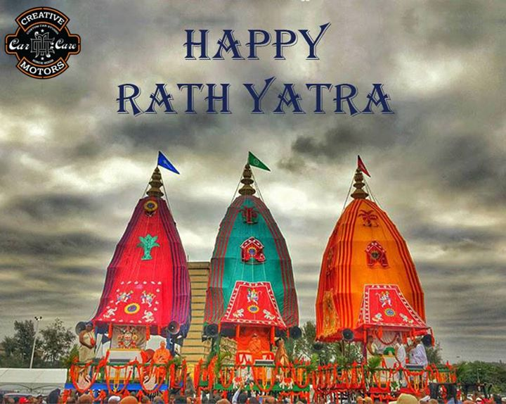 On this holy day, we wish you be graced with the blessings of Almighty Lord Jagannath.  Happy #RathYatra to all of you...