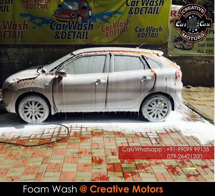 Enhance your driving #experience with our #carcleaning service...Our #CarWash Service is dedicated in car cleaning and solutions and its endeavor is to bring a clean car culture for #carlovers. 'Creative Motors' deliver #happiness to peoples with clean cars at great value. Come wash up. Bringing back that new car feeling.A clean car says a lot about you.  ☎️ SMS/Whatsapp : +91-99099 99135 or 079 26421200 ✉️ Address : 1&2, Ground Floor. Urvashi Complex, Mithakhali Cross roads, Navrangpura, Ahmedabad, India 380009