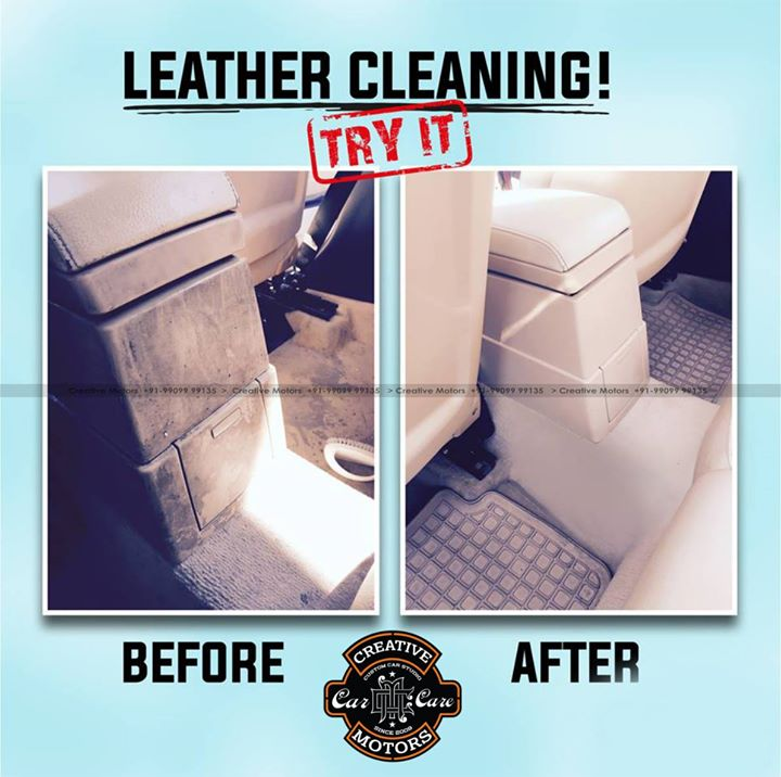 In 'Creative Motors' we take care of your car's leather parts! With our protection special products, we guarantee... a 100% result! Give us a try and you will understand !  ☎️ SMS/Whatsapp : +91-99099 99135 or 079 26421200  ✉️ Address : 1&2, Ground Floor. Urvashi Complex, Mithakhali Cross roads, Navrangpura, Ahmedabad, India 380009