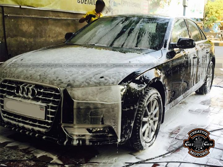 The Ultimate Car Detailing Solution for all the car lovers in Ahmedabad.  Our Premium #Exterior #Carwash services using pressurized steam gives a gleaming look to your ride which will make it a sure head-turner.Our extreme #foam system reduce the chance of scratching by #coatings your #car in a blanket of extreme foam.  Come to 'Creative Motors' for your Car Care.  ☎️ SMS/Whatsapp : +91-99099 99135 or 079 26421200 ✉️ Address : 1&2, Ground Floor. Urvashi Complex, Mithakhali Cross roads, Navrangpura, Ahmedabad, India 380009