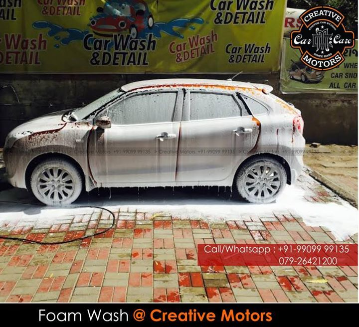 Get you Car A Foam Wash Like never Before Only at Creative Motors  ☎️ SMS/Whatsapp : +91-99099 99135 or 079 26421200  ✉️ Address : 1&2, Ground Floor. Urvashi Complex, Mithakhali Cross roads, Navrangpura, Ahmedabad, India 380009