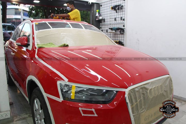 Glass Coated Ceramic at Creative Motors  Price : 15500rs For Large Segment Cars  FEATURES OF GLASS COATED CERAMIC : ♦️100% Original & Patented Product from 'Creative Motors' ♦️Highly Glossy Layer ♦️Immediate Paint Protection ♦️Cost-Effective Solution ♦️Remove Hairline Scratches & Water-spots ♦️Ease of Maintenance  ♦️No need to Wax and Polish again ♦️Strong After-Sale Support & Free Advice ♦️Save time, Effort and Money  Call or Whatsapp : +91-99099 99135  Add :- 1&2, Ground Floor. Urvashi Complex, Mithakhali Cross roads, Navrangpura, Ahmedabad, India 380009