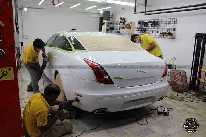 'Diamond Coat' exclusively at 'Creative Motors'  Jaguar XJL - 2012 transformed   #creativemotors  #cardetailing #carspa #microdetailing #GlassCoatedTreatment #glasscoated #carfoamwash #foamwash #ceramiccoatings #coatings  #glasscoatings #waterrepellant #scratchproof #minicooper #supercars #audi #audia4 #audisport #cystalglasscoatings #antigraffiti #ahmedabad