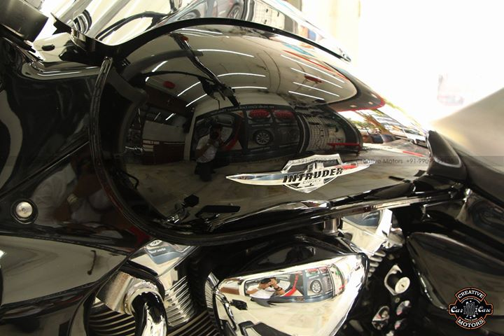 Suzuki Intruder Coated by us Few Months Back  Glass Coated Ceramic at 'Creative Motors'
