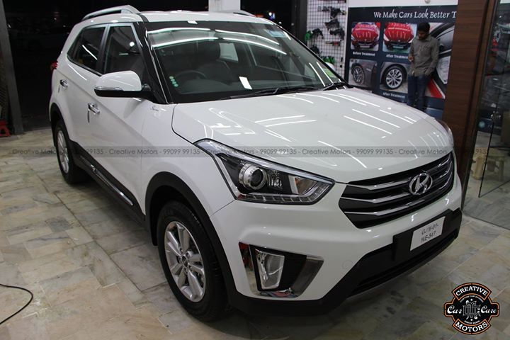 Hyundai Creta got Treated with Ceramic Glass Coating
