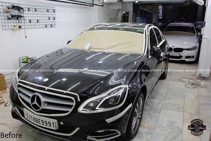 Mercedes E250  got Diamond Coat Package  Price - 45000rs  Before | After | Micro Detailing | Results  All Swirls Removed & Coated With Premium Glass Coating   #creativemotors #cardetailing #ceramiccoating #glasscoating #paintprotection #Qualityovereverything #CGRoad #Ahmedabad #Mercedes #MercedesE250 #India