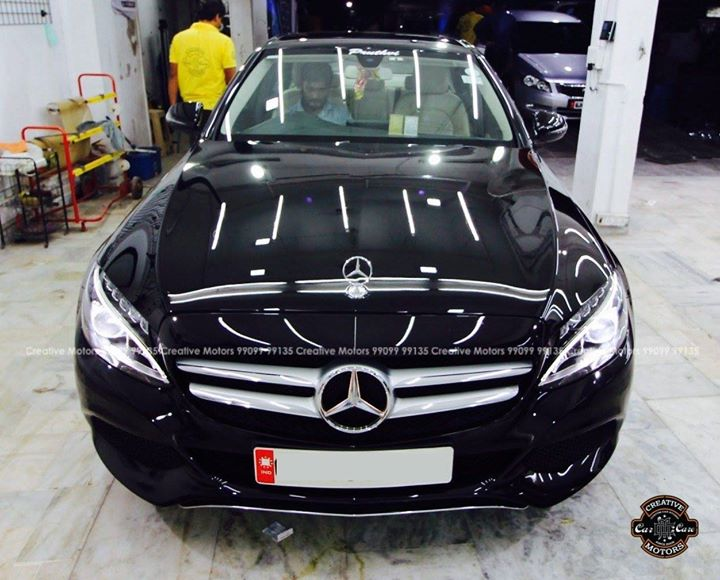 Diamond Coat Exclusive  at Creative Motors Ahmedabad  Mercedes C220 d  Check Finishing of the Coat and Not Car  #creativemotors | #ahmedabad #Cardetailing #CGRoad | #Ahmedabad | #glasscoating | #ceramic