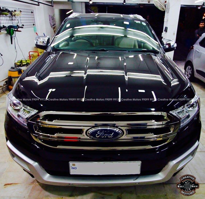 Ford Endevour got  Glass Coated Ceramic   Price Range - 12500rs to 22500rs  Creative Motors Law Garden Ahmedabad  Call / Whats App  -  99099 99134  #creativemotors #cardetailing #ceramic #glasscoating #lawgarden #ahmedabad #qualityovereverything