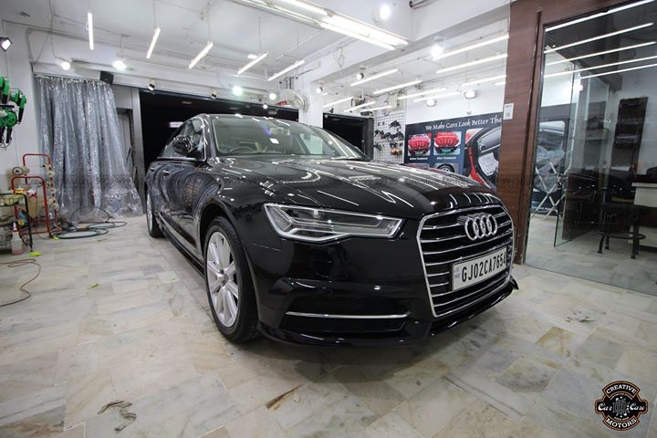 Audi A6 got Refined, Detailed and Coated by us at Creative Motors Mithakhali Branch  Check how it can shine even after 2 years  Check all the Pictures -  Before,  Process & After  #cardetailing #highendcardetailing #ahmedabad #ceramiccoating #glasscoating #Original #Permanent #protection #India #Super #worldno1 #superhydrophobic #Diamond #proud #proudmoments #Volvo #Porsche #Mercedes #Ahmedabad #Rajkot #Qualityovereverything #Audi #A6  Follow us on Instagram - https://goo.gl/aYoF1P  ''Creative Motors'' By Dhwanit Patel  99099 99135
