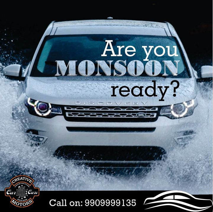 Protect your cars by preparing yourselves for MONSOONS with the following car care tips!!  1. CERAMIC COATING : Protects your car from Rust and Corrosion during rains. 2. GERM CLEAN : With monsoon the germs and bacterial counts increases. Its advisable to germ clean cars during rains.  Pre book appointments on 9909999135