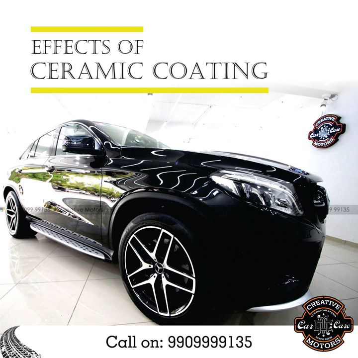 A Ceramic Coating creates a permanent or semi-permanent bond with a vehicle's paint, meaning that it does not wash away or break down. The coating chemically bonds with the vehicle's factory paint, creating a layer of protection.  Dont Think ! Just get it done today ! Pre Book appointments on 9909999135