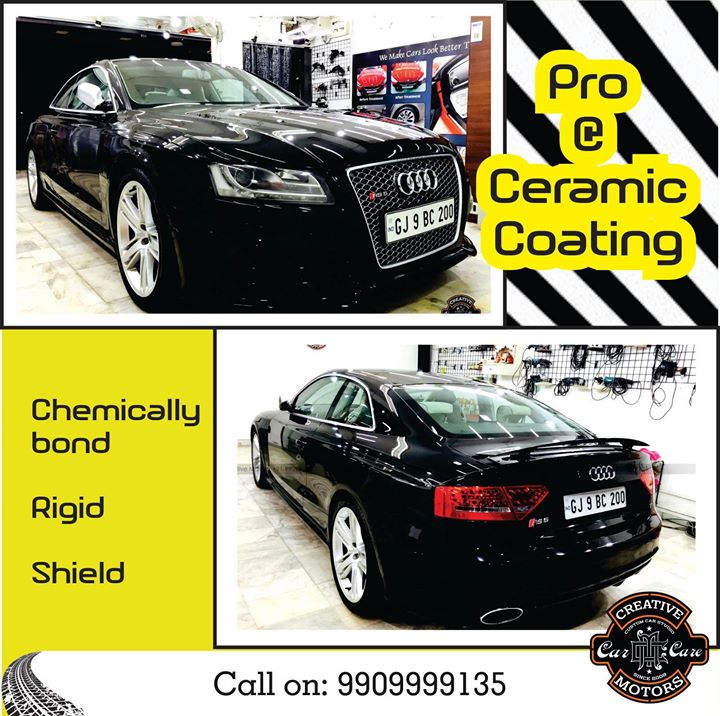 Ceramic Coating Protect is a revolutionary surface protection. Well cared car paint is a flagship for every driver. However, not only new cars may catch an eye with their rich colours and a flawless glow. Such effect may be achieved also in used cars, gaining a high quality protection of the paint structure at the same time.  Get it done from the Experts ! Pre Book Appointment on 9909999135