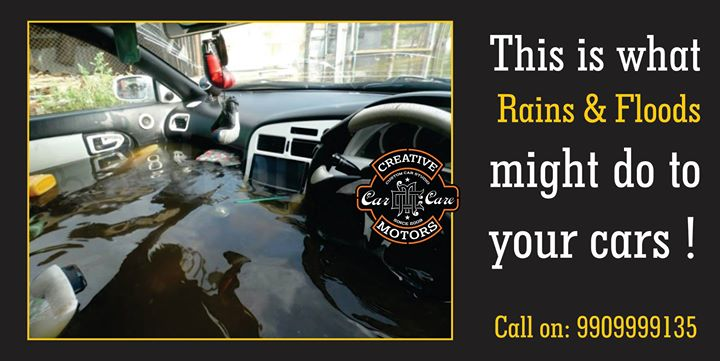 With Monsoon at its full swing, and with what our deary weather conditions did yesterday we surely are going to get worried for our Cars !! Don't panic! We have got your back ! With our Professional Interior Cleaning Treatment we will clean up all the mess that has been created due to rains. Its essential to get this cleaned as soon as possible before the dirt and other debris and moisture fill up your cars completely. Keep your cars and your family healthy !!  Contact us today on 9909999135 !  Follow us on instagram :www.instagram.com/creativemotors  #ahmedabad #cars #bikes #mercedez #toyota #bmw #bmwi8 #india  #rajkot #rajkotsuperbikers #bikers #motor #speed #ceramiccoating #ceramic #coating #offers #creative #cars #automotion #automobile #monsoon #rains  #machine #machinegunkelly #machinegunky  #detailing #wrapping #coating #titanium #ceramiccoat #nanotechnology #paintprotection #best #instashare #instalike #rains #water #flooding #car