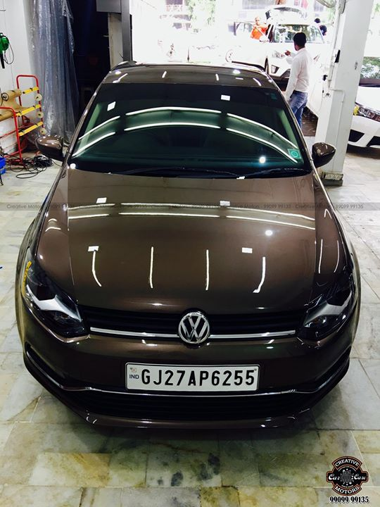 Volkswagon Polo got Ceramic Glass Coated at ''Creative Motors''  Price : 15500rs For Med-Large Segment Cars  *Beware of Local Spa Centres claiming to get the same done at 4000-5000rs.. Glass Coated Ceramic costs approx 15500rs for Large segment Cars...  FEATURES OF CERAMIC GLASS COATED  : ♦️100% Original & Patented Product from 'Creative Motors' ♦️Highly Glossy Layer ♦️Immediate Paint Protection ♦️Cost-Effective Solution ♦️Remove Hairline Scratches & Water-spots ♦️Ease of Maintenance  ♦️No need to Wax and Polish again ♦️Strong After-Sale Support & Free Advice ♦️Save time, Effort and Money  Call or Whatsapp : +91-99099 99135  Add :- 1&2, Ground Floor. Urvashi Complex, Mithakhali Cross roads, Navrangpura, Ahmedabad, India 380009  #creativemotors #caraccessories #cardetailing #carspa #microdetailing #GlassCoatedTreatment #glasscoated #carfoamwash #foamwash #ceramiccoatings #coatings  #glasscoatings #waterrepellant #scratchproof #minicooper #supercars #Rajkot #ahmedabad