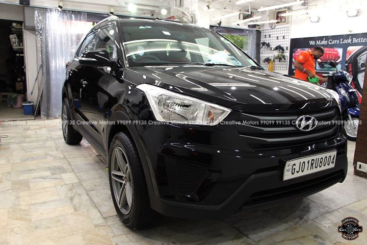 Hyundai Creta got Ceramic Glass Coated at ''Creative Motors''  Price : 15500rs For Med-Large Segment Cars  *Beware of Local Spa Centres claiming to get the same done at 4000-5000rs.. Glass Coated Ceramic costs approx 15500rs for Large segment Cars...  FEATURES OF CERAMIC GLASS COATED : ♦️100% Original & Patented Product from 'Creative Motors' ♦️Highly Glossy Layer ♦️Immediate Paint Protection ♦️Cost-Effective Solution ♦️Remove Hairline Scratches & Water-spots ♦️Ease of Maintenance  ♦️No need to Wax and Polish again ♦️Strong After-Sale Support & Free Advice ♦️Save time, Effort and Money  Call or Whatsapp : +91-99099 99135  Add :- 1&2, Ground Floor. Urvashi Complex, Mithakhali Cross roads, Navrangpura, Ahmedabad, India 380009  #creativemotors #caraccessories #cardetailing #carspa #microdetailing #GlassCoatedTreatment #glasscoated #carfoamwash #foamwash #ceramiccoatings #coatings  #glasscoatings #waterrepellant #scratchproof #minicooper #supercars #Rajkot #ahmedabad