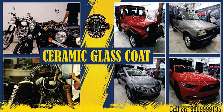 Be it any car or Bike, Ceramic Glass Coat can be done on it !  Check out these #Bikes and #Cars that got Ceramic Glass Coat done at