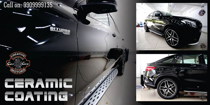 Look at this Amazing Ceramic Glass Coating done on BITURBO 4MATIC Merc at