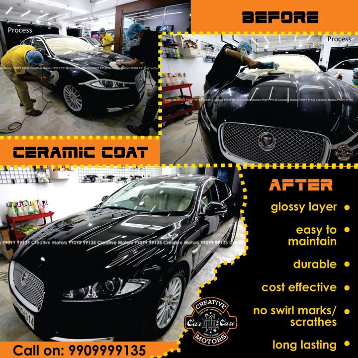 Ceramic Coating done on Jaguar at