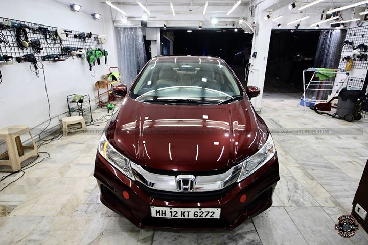 #Best in Class #Ceramic Coating Services at ''#Creative #Motors''  #Honda #City   #Carnelian #Red #Pearl #Paint  Check all the Pictures - Before - Process - After  #Ceramic Coat #Benefits: ♦Gives Additional Gloss/Shine ♦Protects Paint from Fading ♦No Ageing Effect ♦Removes Hairline Scratches & Water-spots ♦Water & Dust Repellent  ♦Easy to Clean & Maintain ♦No need to Wax and Polish again ♦Scratch Resistant upto 9H Hardness ♦3 Year Protection in 3 hours  Call or Whatsapp : +91 99099 99135  Follow us on Instagram: www.instagram.com/creativemotors  #creativemotors #bikes #bikers #Cars #carspa #microdetailing #ceramiccoatings #coatings  #glasscoatings #waterrepellant #scratchproof #minicooper #supercars #Rajkot #ahmedabad #qualityovereverything