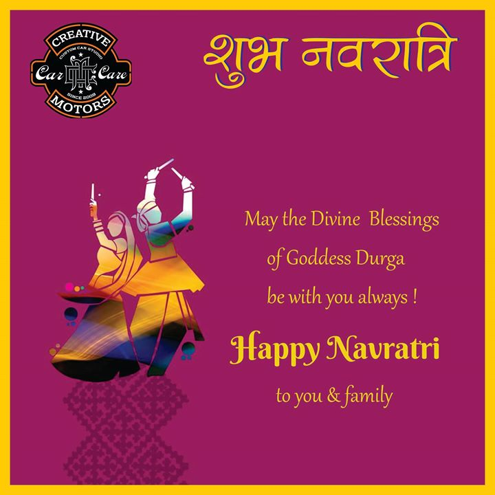 Best wishes this Navratri to Everyone From, Creative Motors...