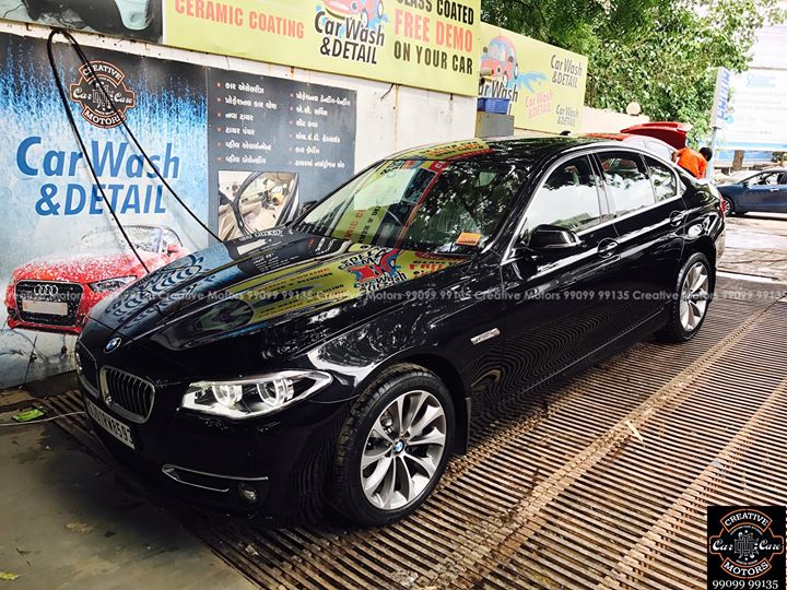 ''Paint Protection Coating''  done on BMW 5 series  Protect your cars by preparing yourselves with the following car care tips!!  1. CERAMIC COATING : Protects your car from Rust,Corrosion & Scratches.  2. GERM CLEAN : Kills 99% germs and Bacteria from Interiors, leaving it a Fine & Clean Surface...  Pre book appointments on 9909999135  #cardetailing #highendcardetailing #ahmedabad #ceramiccoating #glasscoating #Original #Permanent #protection #India #Super #worldno1 #superhydrophobic #Diamond #proud #proudmoments #Volvo #Porsche #Mercedes #Ahmedabad #Rajkot #JaguarXJL #Qualityovereverything  Follow us on Instagram - https://goo.gl/aYoF1P  ''Creative Motors'' By Dhwanit Patel  99099 99135