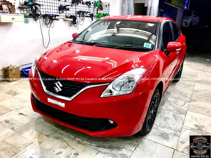 Creative Motors,  Suzuki, Baleno, Red, Best, Ceramic, Creative, Motors'', Ceramic, Benefits:, creativemotors, bikes, bikers, Cars, carspa, microdetailing, ceramiccoatings, coatings, glasscoatings, waterrepellant, scratchproof, minicooper, supercars, Rajkot, ahmedabad, Jeep, compass, qualityovereverything