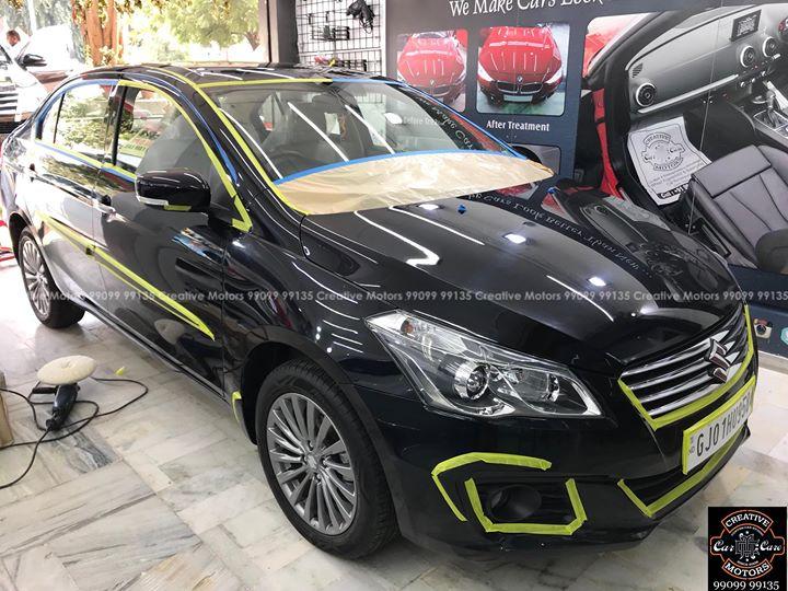 Creative Motors,  Ciaz, black, ciaz, black, ceramiccoating, detailing, ahmedabad