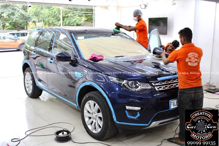 #Landrover #Discovery got the #Best #Ceramic Treatment at ''#Creative #Motors''    #Ceramic Coat #Benefits:   ♦Gives Additional Gloss/Shine  ♦Protects Paint from Fading  ♦No Ageing Effect  ♦Removes Hairline Scratches & Water-spots  ♦Water & Dust Repellent   ♦Easy to Clean & Maintain  ♦No need to Wax and Polish again  ♦Scratch Resistant upto 9H Hardness  ♦3 Year  Protection in 3 hours    Call or Whatsapp : +91 99099 99135    Follow us on instagram: www.instagram.com/creativemotors    Add:  Creative Motors Ahmedabad     GF 1,2 Urvashi Complex,  Nr. Calcutta Motors, Mithakhali Six Roads, Law Garden Road, Navrangpura, Ahmedabad       9909999135   #creativemotors #Cars #carspa #microdetailing #ceramiccoatings #coatings  #glasscoatings #waterrepellant #scratchproof #supercars #Rajkot #ahmedabad #Proudcomments #like4like #qualityovereverything