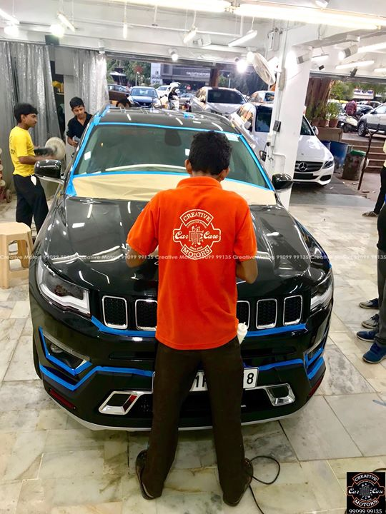Creative Motors,  JEEP, COMPASS, Black, Best, Ceramic, Creative, Motors'', Ceramic, Benefits:, creativemotors, bikes, bikers, Cars, carspa, microdetailing, ceramiccoatings, coatings, glasscoatings, waterrepellant, scratchproof, minicooper, supercars, Rajkot, ahmedabad, Jeep, compass, qualityovereverything