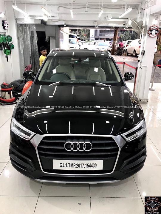 After Pictures of #Audi #Q3   #Benefits:  - Scratch Resistant  - Easy to Clean & Maintain  - High Glossy Shine  - Highly Durable   Creative Motors Ahmedabad    GF 1,2 Urvashi Complex,   Nr. Pantaloons (CG Road) Mithakhali Six Roads,  Law Garden Road,  Navrangpura,  Ahmedabad          9909999135   #creativemotors  #microdetailing #ceramiccoatings #coatings  #glasscoatings #waterrepellant #scratchproof #supercars #Rajkot #ahmedabad #qualityovereverything #audi #Q3