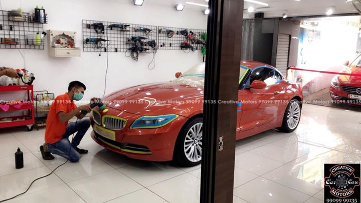 Bmw Z4 getting Ceramic Coated  #Benefits:  - Scratch Resistant  - Easy to Clean & Maintain  - High Glossy Shine  - Highly Durable   Address:  Creative Motors Ahmedabad    GF 1,2 Urvashi Complex,   Nr. Pantaloons (CG Road) Mithakhali Six Roads,  Law Garden Road,  Navrangpura,  Ahmedabad          Call- 9909999135   #creativemotors #bikes #bikers  #microdetailing #ceramiccoatings #coatings  #glasscoatings #waterrepellant #scratchproof #supercars #Rajkot #ahmedabad #qualityovereverything #bmwz4