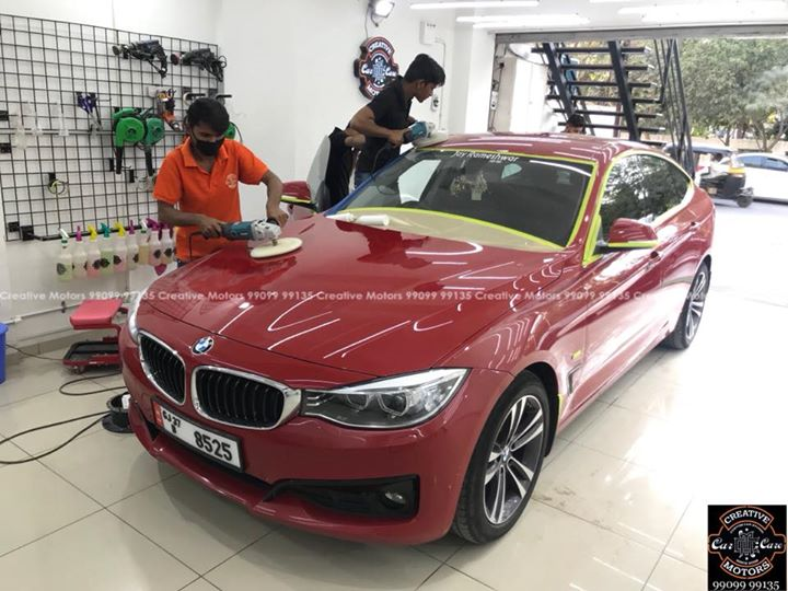 Bmw GT Red got Ceramic Coated at Creative Motors   #Benefits:  - Scratch Resistant  - Easy to Clean & Maintain  - High Glossy Shine  - Highly Durable  Address:   GF 1,2 Urvashi Complex,   Nr. Pantaloons (CG Road) Mithakhali Six Roads,  Law Garden Road,  Navrangpura,  Ahmedabad          Call- 9909999135   #creativemotors #bikes #bikers  #microdetailing #ceramiccoatings #coatings  #glasscoatings #waterrepellant #scratchproof #supercars #Rajkot #ahmedabad #qualityovereverything #bmw #gt