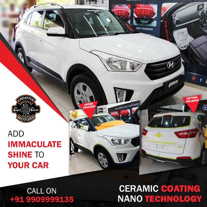 🔺 Ceramic coating provides a surface which resists dirt and repels water resulting in less maintenance. 🔺Protection against minor scratches, rock chips, oxidation, acid rain, bird droppings and bugs. 🔺Oxidation and corrosion are also minimized..  Give your car a magical Touch at Creative Motors Ahmedabad..  #specialistforceramiccoating   ☎️ Call or Whats App - +91 99099 99135  Address: Creative Motors Ahmedabad Gf - 1,2 Urvashi Complex, Mithakhali Six Roads, Ahmedabad  #carservices #carspa #carwash #creative #motors #details #detailsmatter #luxury #luxuriouscars #shine #automobile #standout #live #pictures #reality #ahmedabad #carlove #speed #clean #thrill #exquisite #avengers #infinitywar