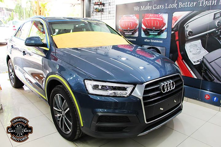 Lavish #AUDI got Ceramic Coating at Creative Motors Ahmedabad  All Swirls Removed & Coated With Premium Glass Coating  #Benefits: - Scratch Resistant - Easy to Clean & Maintain - High Glossy Shine - Highly Durable  Call or Whats App - +91 99099 99135  Address:  Creative Motors Ahmedabad Gf - 1,2 Urvashi Complex, Mithakhali Six Roads, Ahmedabad  #creativemotors #cardetailing #ceramiccoating #glasscoating #paintprotection #Qualityovereverything #CGRoad #Ahmedabad #audi #India