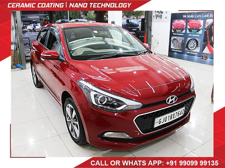 Hyundai #i20 gets an amaze touch of Creative Motors Ahmedabad for sparkling shine and additional protection for hitting the dirty roads..   Benefits of Ceramic Coating 👇 🔺9H Hardness coat 🔺Remove swirl marks 🔺Weather Resistance 🔺Mirror finish 🔺UV rays 🔺Water & Dust Repellent  #specialistforceramiccoating  Address: Creative Motors Ahmedabad GF 12,13 ZION Prime, Near Bagban Party Plot, Off SindhuBhavan Road, Ahmedabad & Creative Motors Ahmedabad Gf - 1,2 Urvashi Complex, Mithakhali Six Roads, Ahmedabad ☎️ Call or Whats App - +91 99099 99135