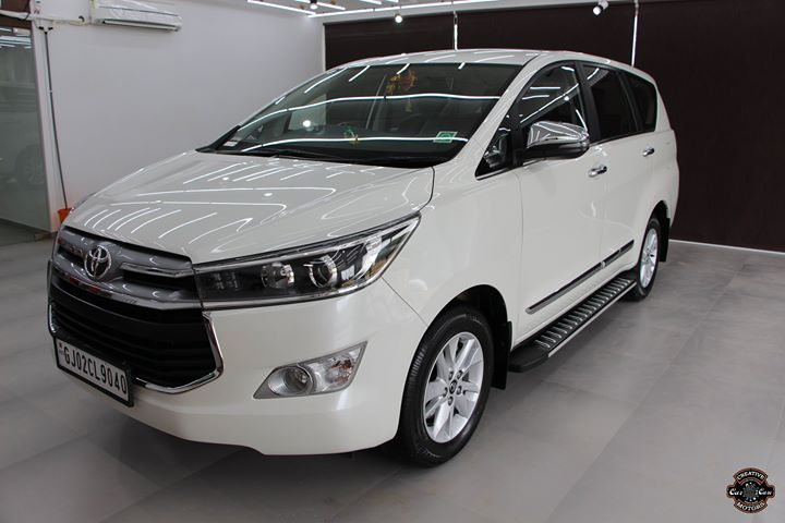 Creative Motors,  Toyota, Innova, White, specialistforceramiccoating, carservices, carspa, carwash, creative, motors, details, detailsmatter, luxury, luxuriouscars, shine, automobile, standout, live, pictures, reality, ahmedabad, carlove, speed, clean, thrill, exquisite