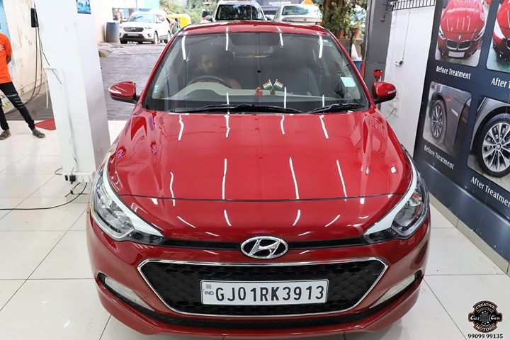 #Hyundai #i20 #Red got Ceramic Coating at Creative Motors Ahmedabad  1.75 Year Old Car got new this Navratri  Benefits of Ceramic Coating👇 🔺9H Hardness coat 🔺Remove swirl marks 🔺Weather Resistance 🔺Mirror finish 🔺UV rays 🔺Water & Dust Repellent  #specialistforceramiccoating  Address:  Creative Motors Ahmedabad GF 12,13 ZION Prime, Near Bagban Party Plot, Off SindhuBhavan Road, Ahmedabad  &  Creative Motors Ahmedabad Gf - 1,2 Urvashi Complex, Mithakhali Six Roads, Ahmedabad  ☎️ Call or Whats App - +91 99099 99135  #carservices #carspa #carwash #creative #motors #details #detailsmatter #luxury #luxuriouscars #shine #automobile #standout #live #pictures #reality #ahmedabad #carlove #speed #clean #thrill #exquisite