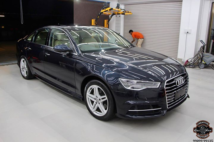 Audi A6 getting Ceramic Coating at Creative Motors Thaltej  Benefits of Ceramic Coating👇 🔺9H Hardness coat 🔺Remove swirl marks 🔺Weather Resistance 🔺Mirror finish 🔺UV rays 🔺Water & Dust Repellent  #specialistforceramiccoating  Address:  Creative Motors Ahmedabad GF 12,13 ZION Prime, Near Bagban Party Plot, Off SindhuBhavan Road, Ahmedabad  &  Creative Motors Ahmedabad Gf - 1,2 Urvashi Complex, Mithakhali Six Roads, Ahmedabad  ☎️ Call or Whats App - +91 99099 99135  #carservices #carspa #carwash #creative #motors #details #detailsmatter #luxury #luxuriouscars #shine #automobile #standout #live #pictures #reality #ahmedabad #carlove #speed #clean #thrill #exquisite