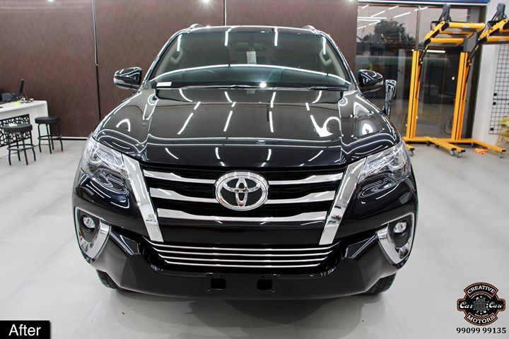 #Ceramic #Coating on #Toyota #Fortuner #Black at Creative Motors Thaltej  Benefits of Ceramic Coating👇 🔺9H Hardness coat 🔺Remove swirl marks 🔺Weather Resistance 🔺Mirror finish 🔺UV rays 🔺Water & Dust Repellent  #specialistforceramiccoating  Address:  Creative Motors Ahmedabad GF 12,13 ZION Prime, Near Bagban Party Plot, Off SindhuBhavan Road, Ahmedabad  ☎️ Call or Whats App - +91 99099 99135  #carservices #carspa #carwash #creative #motors #details #detailsmatter #luxury #luxuriouscars #shine #automobile #standout #live #pictures #reality #ahmedabad #carlove #speed #clean #bmw #x3 #Bestornothing