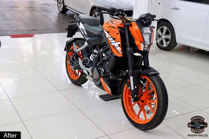 #Ceramic #Coating on #KTM #Duke at Creative Motors Ahmedabad  Benefits of Ceramic Coating👇 🔺9H Hardness coat 🔺Remove swirl marks 🔺Weather Resistance 🔺Mirror finish 🔺UV rays 🔺Water & Dust Repellent  #specialistforceramiccoating  Address:  Creative Motors Ahmedabad Gf - 1,2 Urvashi Complex, Mithakhali Six Roads, Ahmedabad  ☎️ Call or Whats App - +91 99099 99135  #carservices #carspa #carwash #creative #motors #details #detailsmatter #luxury #luxuriouscars #shine #automobile #standout #live #pictures #reality #ahmedabad #carlove #Bestornothing