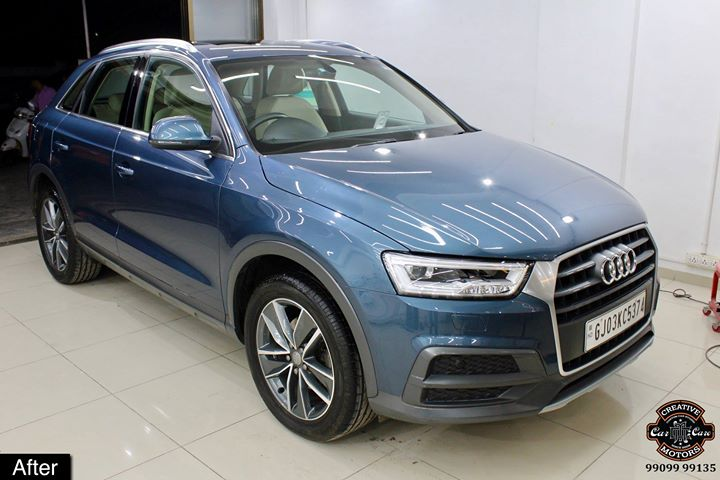 #Ceramic #Coating on Audi Q3 at Creative Motors Rajkot  Benefits of Ceramic Coating👇 🔺9H Hardness coat 🔺Remove swirl marks 🔺Weather Resistance 🔺Mirror finish 🔺UV rays 🔺Water & Dust Repellent  #specialistforceramiccoating  Address:  Creative Motors Ahmedabad Gf - 1,2 Urvashi Complex, Mithakhali Six Roads, Ahmedabad  ☎️ Call or Whats App - +91 99099 99135  #carservices #carspa #carwash #creative #motors #details #detailsmatter #luxury #luxuriouscars #shine #automobile #standout #live #pictures #reality #ahmedabad #carlove #Bestornothing