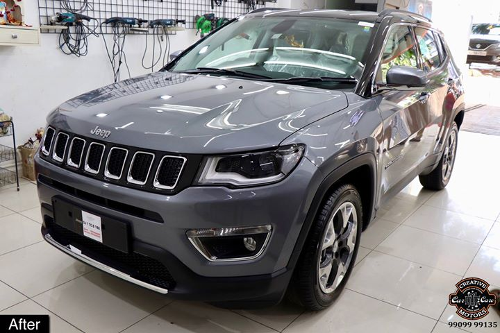 #Ceramic #Coating on #Jeep #Compass at Creative Motors Ahmedabad  Benefits of Ceramic Coating👇 🔺9H Hardness coat 🔺Remove swirl marks 🔺Weather Resistance 🔺Mirror finish 🔺UV rays 🔺Water & Dust Repellent  #specialistforceramiccoating  Address:  Creative Motors Ahmedabad GF 12,13 ZION Prime, Near Bagban Party Plot, Off SindhuBhavan Road, Ahmedabad  &  Creative Motors Ahmedabad Gf - 1,2 Urvashi Complex, Mithakhali Six Roads, Ahmedabad  ☎️ Call or Whats App - +91 99099 99135  #carservices #carspa #carwash #creative #motors #details #detailsmatter #luxury #luxuriouscars #shine #automobile #standout #live #pictures #reality #ahmedabad #qualityovereverything