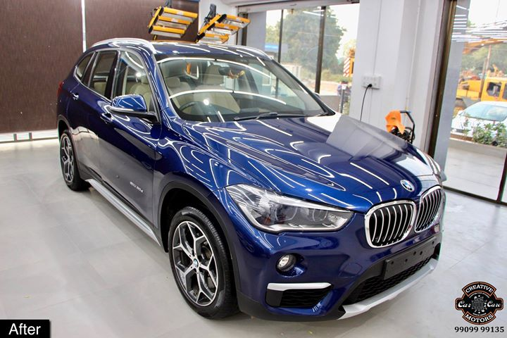 #Ceramic #Coating on #BMW #X1 at Creative Motors Thaltej  Benefits of Ceramic Coating👇 🔺9H Hardness coat 🔺Remove swirl marks 🔺Weather Resistance 🔺Mirror finish 🔺UV rays 🔺Water & Dust Repellent  #specialistforceramiccoating  Address:  Creative Motors Ahmedabad GF 12,13 ZION Prime, Near Bagban Party Plot, Off SindhuBhavan Road, Ahmedabad  ☎️ Call or Whats App - +91 99099 99137  #carservices #carspa #carwash #creative #motors #details #detailsmatter #luxury #luxuriouscars #shine #automobile #standout #live #pictures #reality #ahmedabad #qualityovereverything